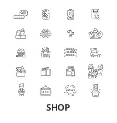shop shopping bag shopping mall store shopping vector image