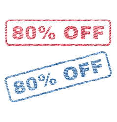 80 percent off textile stamps vector image vector image