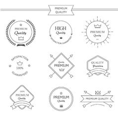 Premium quality line labels set vector image
