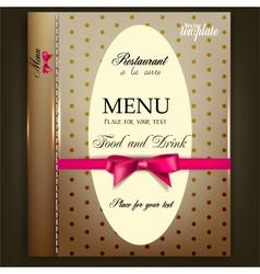Restaurant Menu design Vintage template vector image