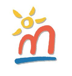 sea arch and sun vector image