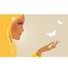 with butterfly vector image