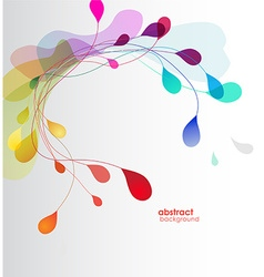 Abstract colored background with leafs vector image