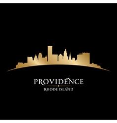 Providence Rhode Island city skyline silhouette vector image vector image