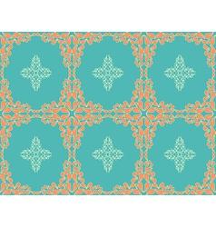 Retro seamless flower pattern vector image vector image