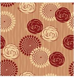 vintage flower seamless vector image