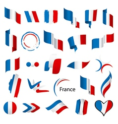 Biggest collection of flags of France vector image