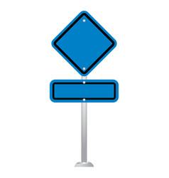 blank road sign board vector image