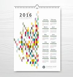 Calendar new year colorful geometric design vector