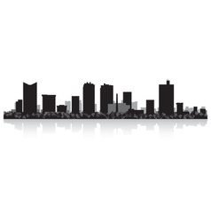 Fort Worth USA city skyline silhouette vector image vector image
