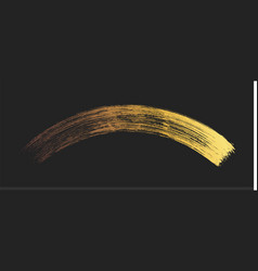 make-up cosmetic golden mascara brush stroke on vector image