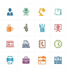 Office Icons - Colored Series vector image vector image