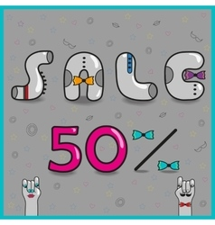 Sale fifty percents vector