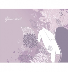 woman floral vector image vector image