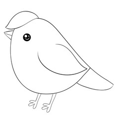 a children coloring bookpage a cartoon bird image vector image