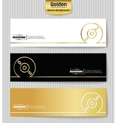 Abstract creative concept gold background vector