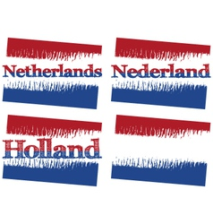 abstract flag of Netherlands vector image