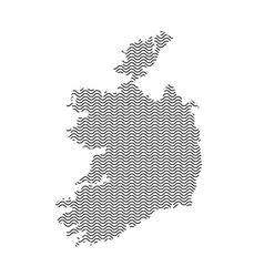abstract ireland country silhouette of wavy black vector image