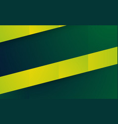 abstract yellow green shape background vector image