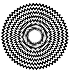 Abstract zigzag concentric element with jagged vector