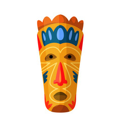 african tribal voodoo mask isolated on white vector image