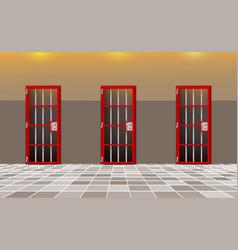Background prison trend european interior jail vector