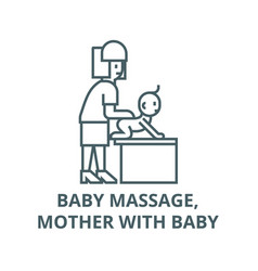 bamassage mother with baline icon vector image