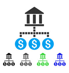 Bank cashout flat icon vector