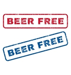 Beer Free Rubber Stamps vector