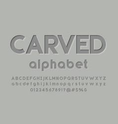 Bevel font vector