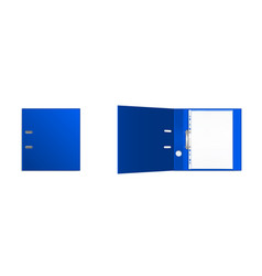 Binder folder with files in plastic punched pocket vector