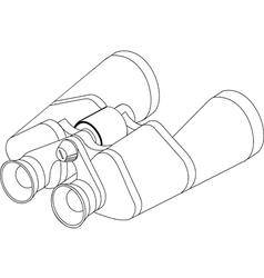 Binoculars line vector image