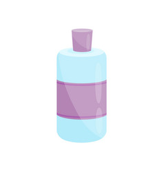 blue plastic nail polish remover bottle with vector image