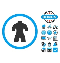 Body Flat Icon with Bonus vector