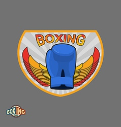 Boxing emblem Logo boxing Club vector image