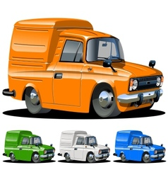 Cartoon delivery van one click repaint vector