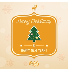 Christmas greeting card1 vector image
