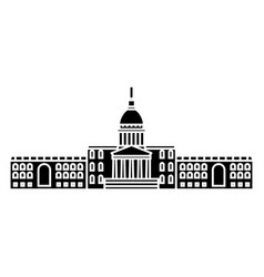 City hall black icon concept city hall vector