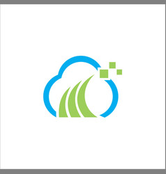 Cloud digital technology logo vector
