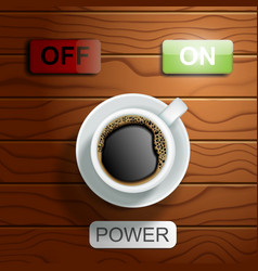 coffee power concept realistic vector image