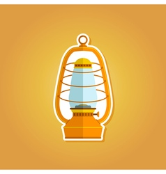color icon with lantern vector image