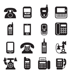 communication call phone vintage retro telephone vector image