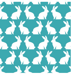 cute rabbits pattern background vector image