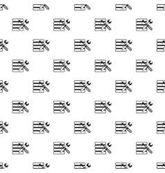 Database setup pattern simple style vector