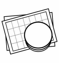 database sheet icon vector image