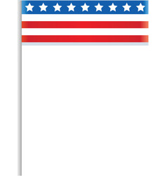 decorative abstract usa flag frame vector image