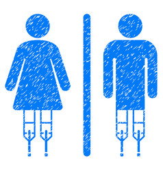 Disabled wc persons grunge icon vector