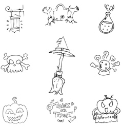 Doodle Halloween holiday element vector image