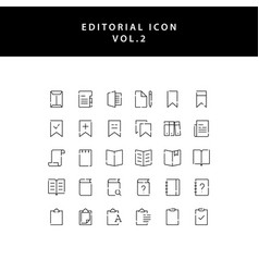 Editorial outline icon set vol2 vector