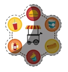 elements fast food icon vector image